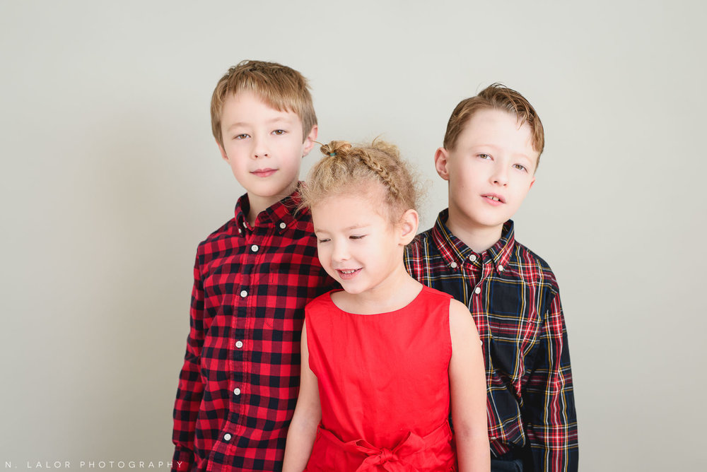 Album cover. Greenwich CT Kids Photo Studio Portraits by N. Lalor Photography