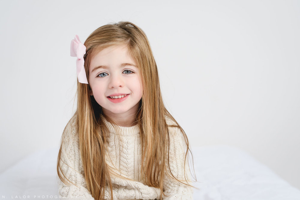 3 years old. Studio portrait by N. Lalor Photography, Greenwich CT family photographer.