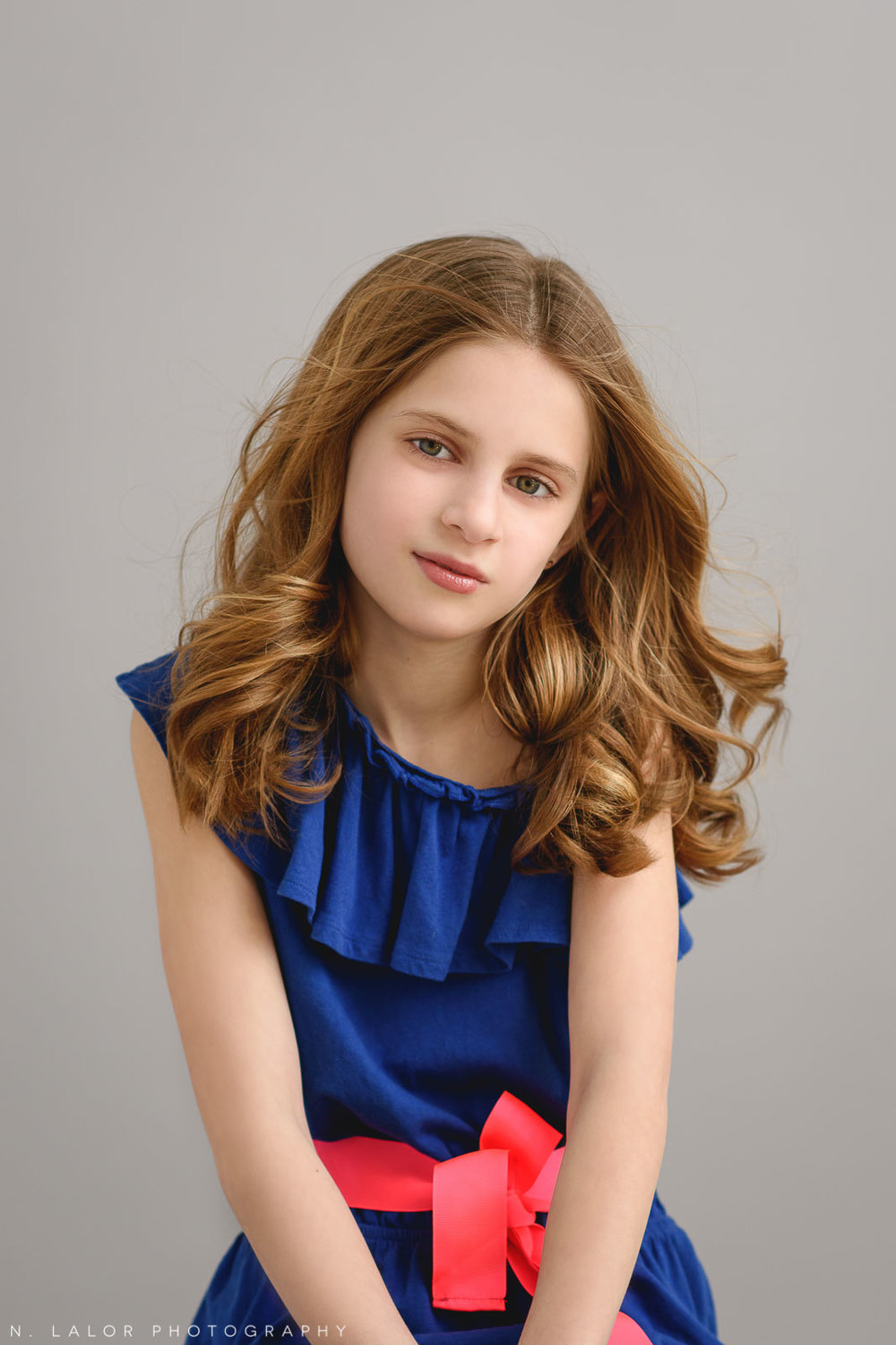 Natural beauty. Tween Studio photoshoot by N. Lalor Photography, located in Greenwich, CT.