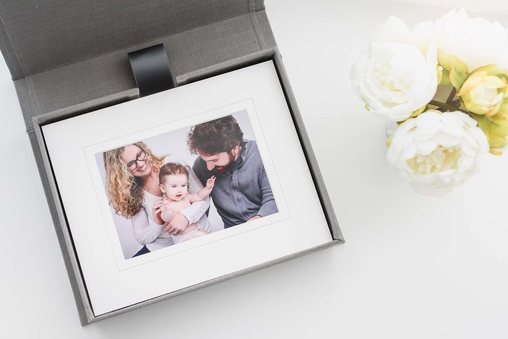 N. Lalor Photography print products - Cypress Albums folio box with matted prints.
