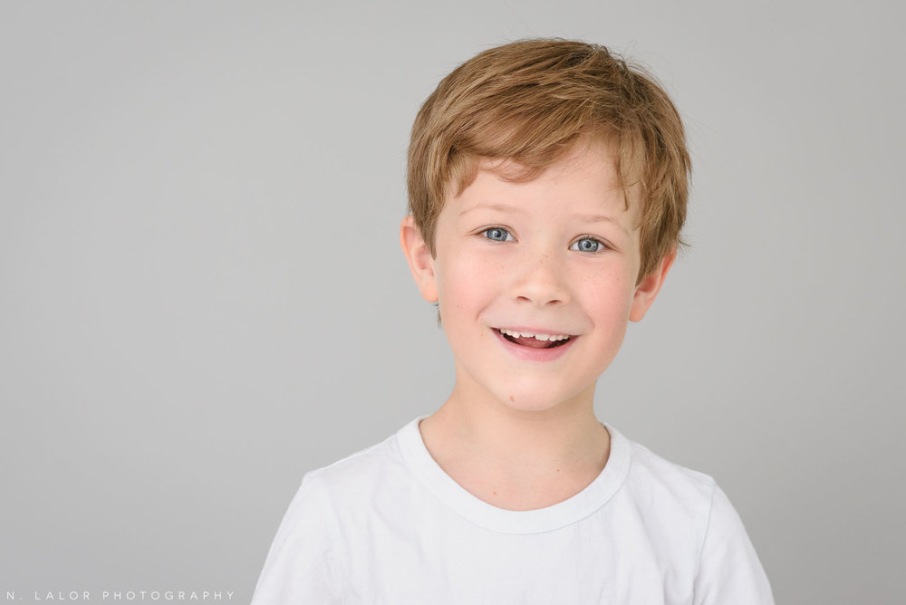 Teeth! Simple studio portrait session with N. Lalor Photography in Greenwich, CT.