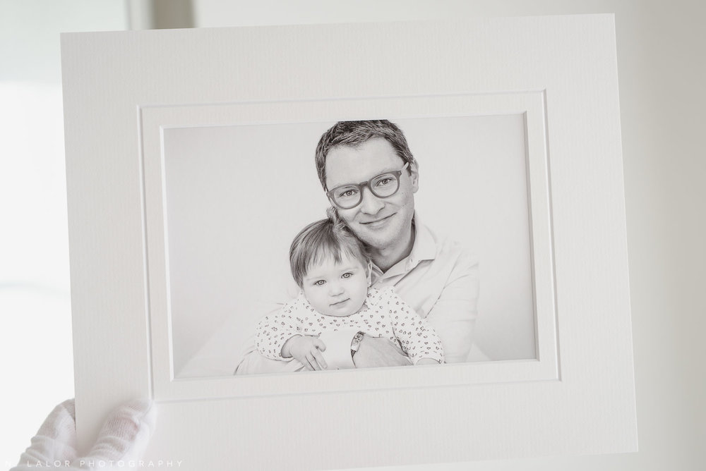 Dad with daughter. Family portrait session with N. Lalor Photography in Greenwich, Connecticut.