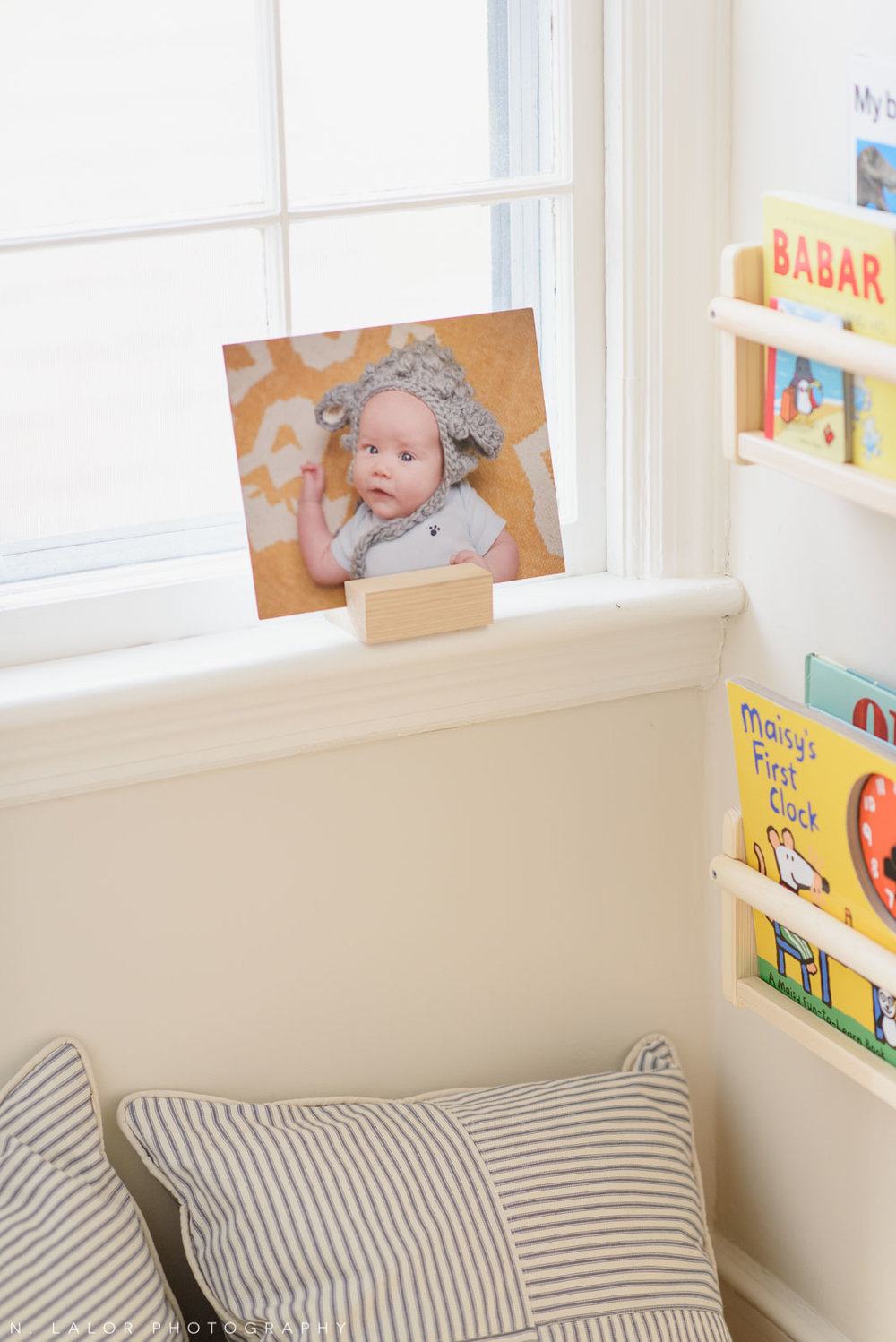 Baby photo print in my son's room. Photograph by N. Lalor Photography.
