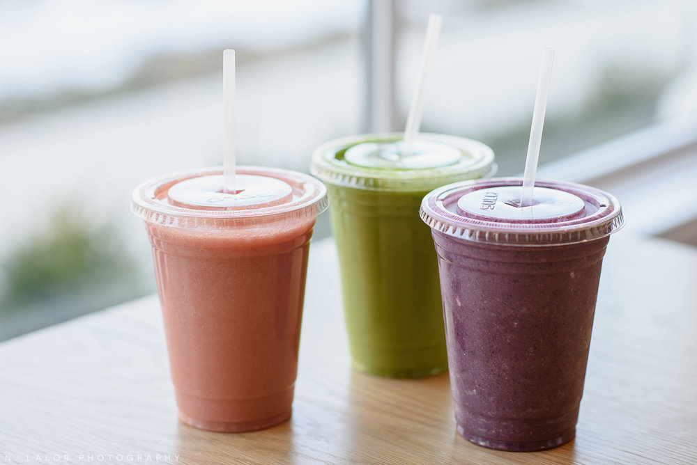 Smoothies. Roost Darien, small business photos by N. Lalor Photography.