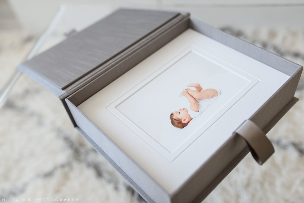N. Lalor Photography Studio - sample heirloom box and matted fine art prints.