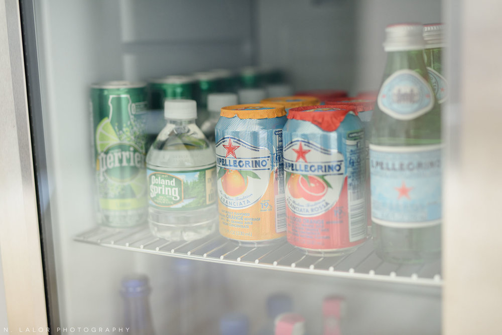I no longer have juice boxes in the mini fridge, but stock it with water and sparkling mineral water options.. all complimentary for my Clients to enjoy.