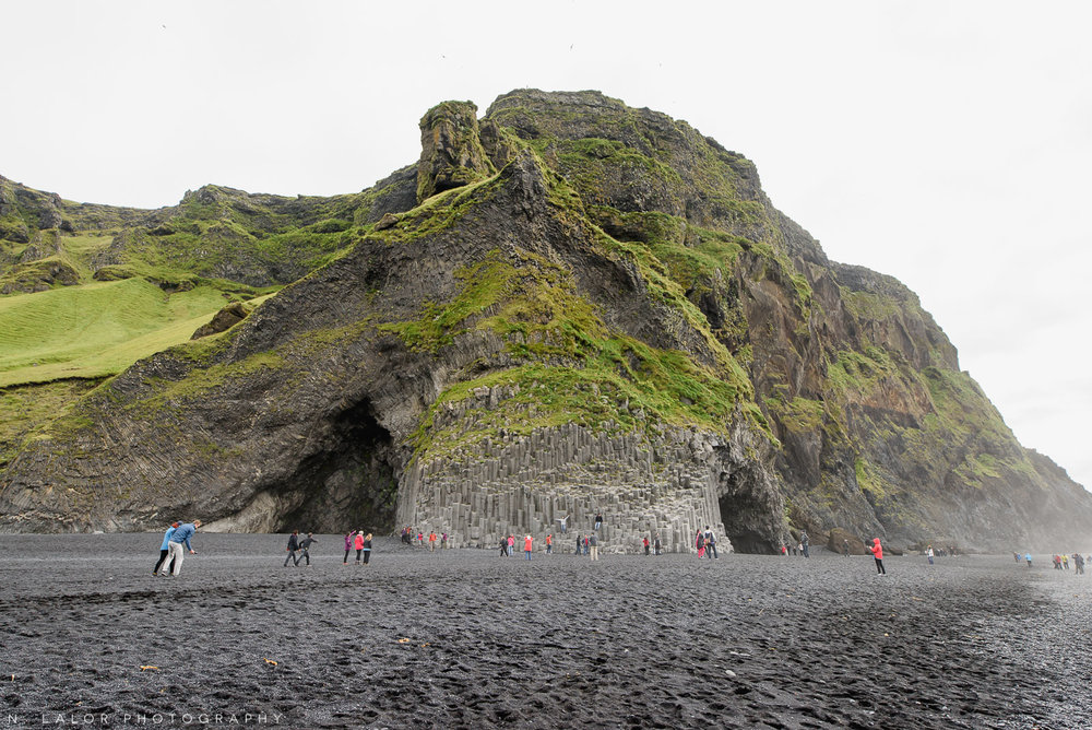 Hálsanefshellir cave at the black sand beach - only visible during low-tide. From my trip to Iceland in 2018. Photograph by Nataliya Lalor.