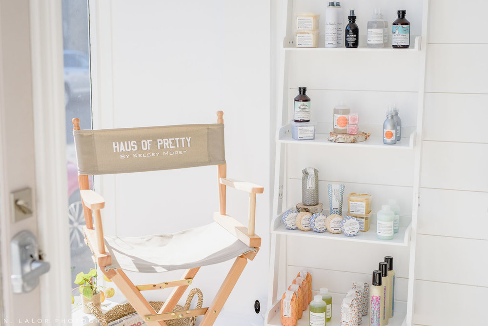 On-location styling chair by Haus of Pretty in Westport, CT. Photo by N. Lalor Photography.