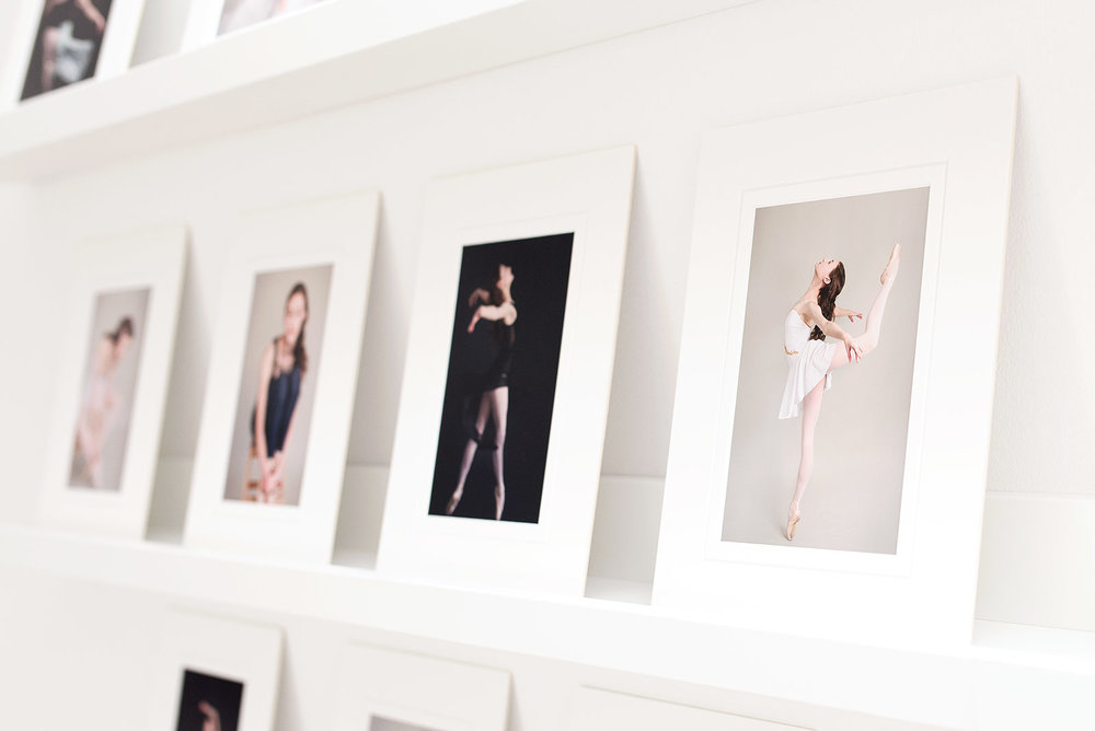 Image of printed photographs in white gallery mats. Photos by N. Lalor Photography, Studio located in Greenwich Connecticut.