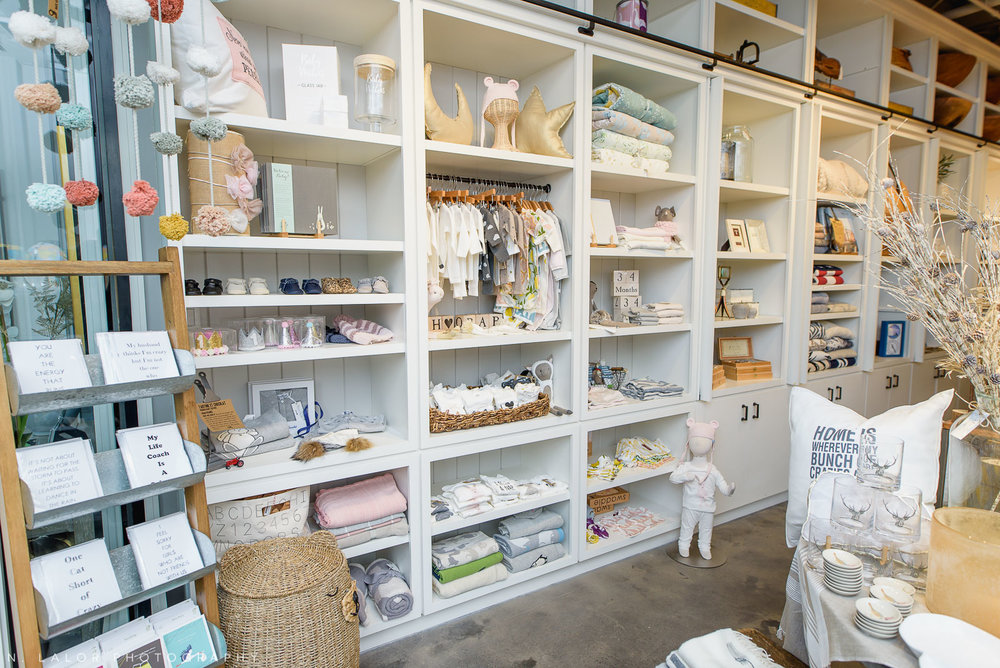 Back 40 Mercantile baby section, in Old Greenwich, Connecticut. Image by N. Lalor Photography.