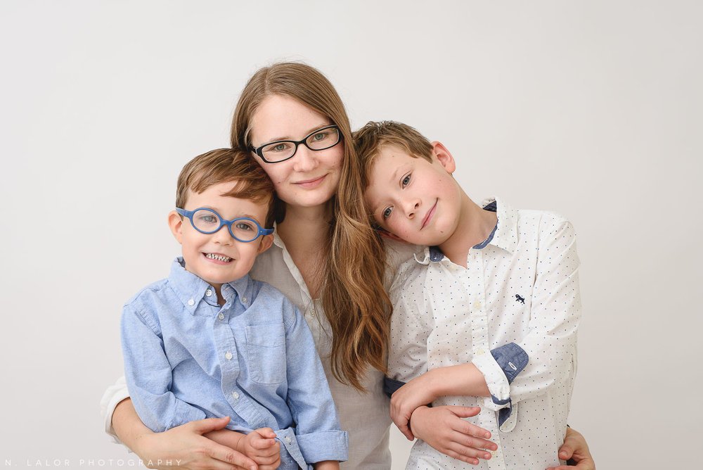 Image of Nataliya Lalor, Portrait Photographer in Greenwich, CT with her two sons.