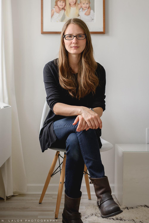Image of Nataliya Lalor, Portrait Photographer in Greenwich, CT in her Studio.