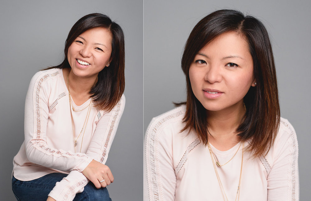 Image showing professional yet casual headshot with relaxed posture and expression. Studio headshot portrait by N. Lalor Photography in Greenwich, Connecticut.