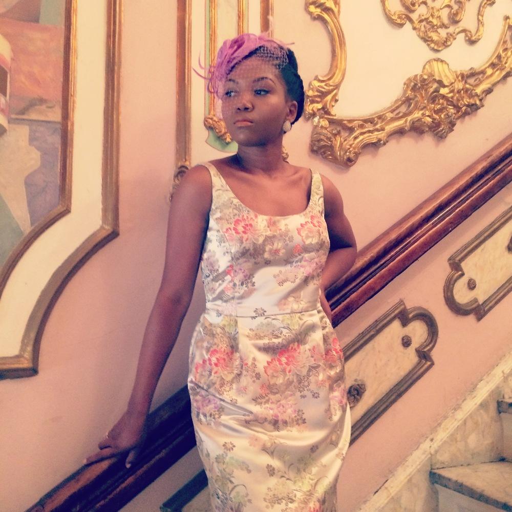 Custom dress designed by:  Kimera Design.
