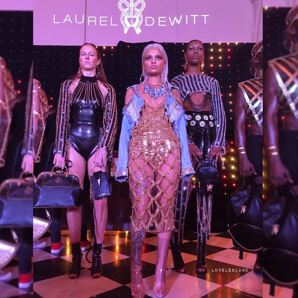 Amina blue  front and center in  Laurel Dewitt .