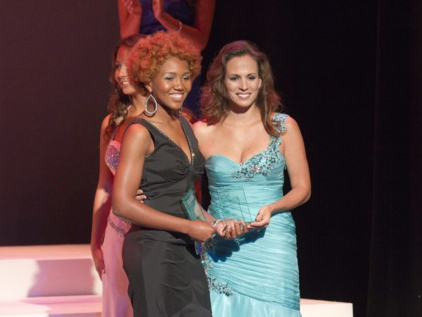 Receiving the Best Style Award & 2nd Runner Up Miss Westchester 2012. Photo credit: Patch.com