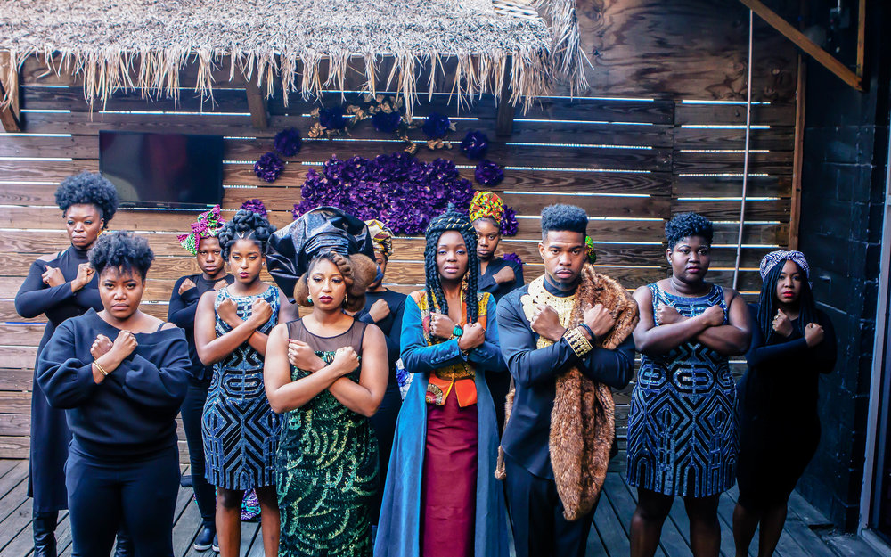 Luxe LeBlanc_Wakandan Wedding_Reception with audience.jpg