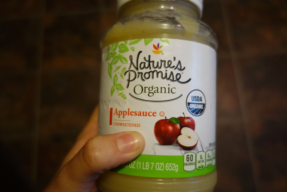 Unsweetened applesauce - my new favorite sweetener!