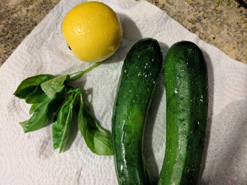 Some of my favorite flavors of summer, zucchini, lemon & basil!
