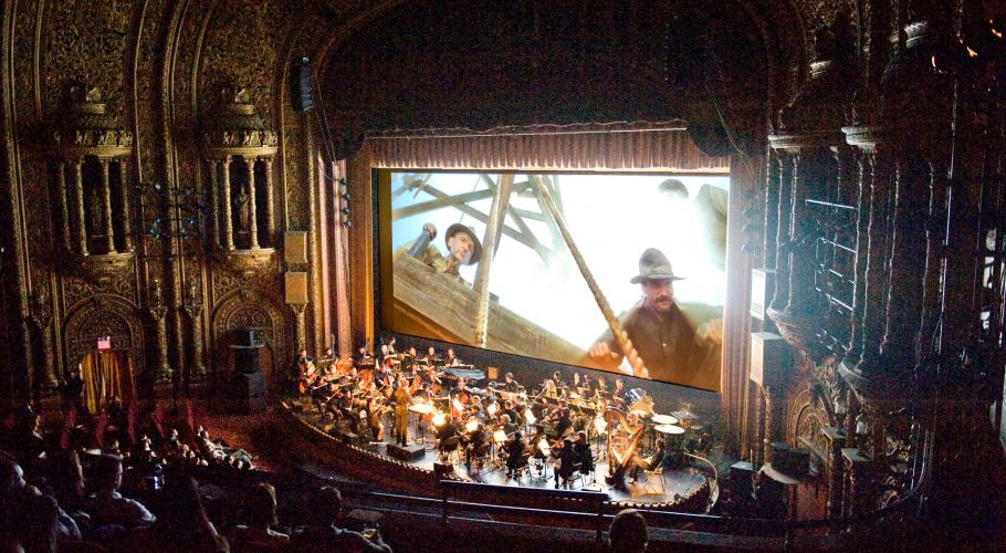 World Music Orchestra's presentation of a live score to  There Will be Blood  at United Palace, 2014