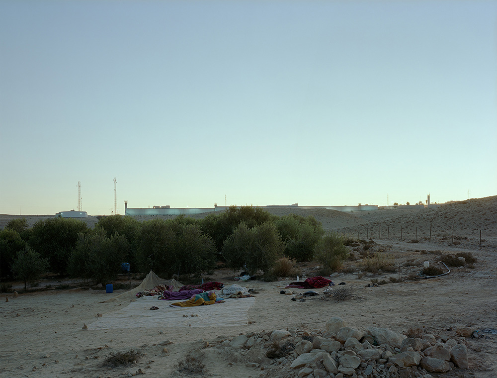 Jeff Wall,  Daybreak , 2011, Color photograph, 94 ½ x 124 ½ inches.