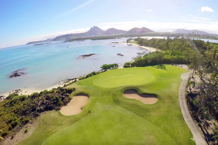 Aerial View of Ile aux Cerfs Golf Club