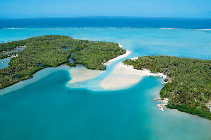 Aerial view of Ile aux Cerfs Leisure Island