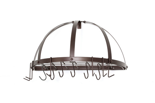 mounted ub with wall pot mount iron wrought dr bar hooks rack racks