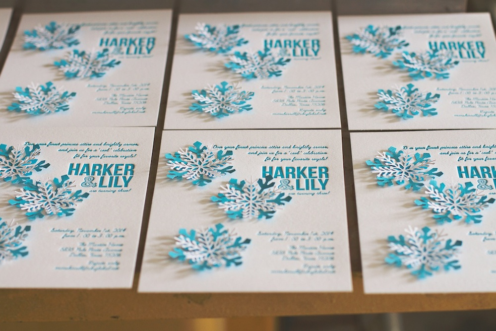Snowflake Invitations