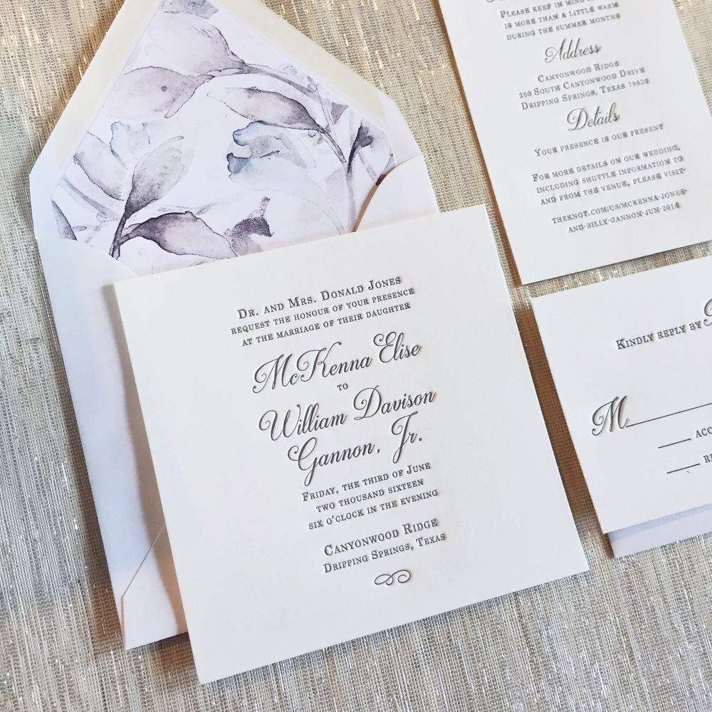 New Classic Wedding Invitations — Rhapsody Letterpress