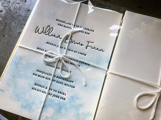 My Vanilla Sky invitations are my most popular product these days, and I always get asked for a blue counter to the blush pink. I love the light and airy blues contrasting the modern navy script! I'll be adding these to my shop soon!