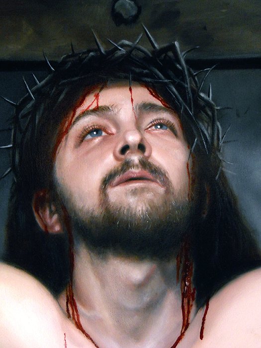 "15 years since I painted Reborn - a detail of my painting ""The Crucifixion"" from 2015"