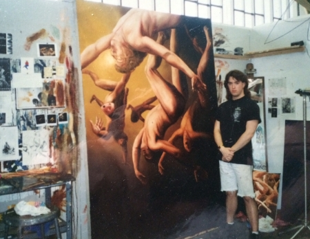 Fall 1995, just returned from a semester in Italy in my studio at PSU.  I had ambition but no clue where to start after art school.