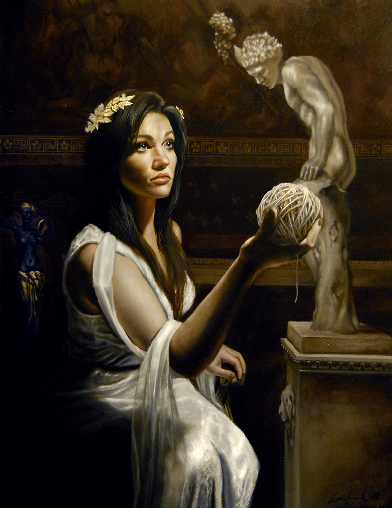 Ariadne Ariadne, mythological art and classical realism by figurative artist Eric Armusik