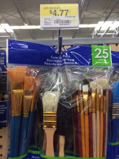 The mother load of cheap-ass brushes! $4.99! lol