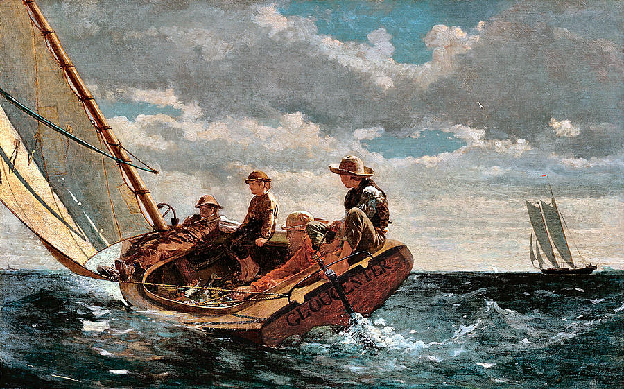 Winslow Homer was largely a self taught artist and yet he managed to be one of the most successful artists of his time.  Today he is considered one of the foremost painters in 19th-century America and a preeminent figure in American art.
