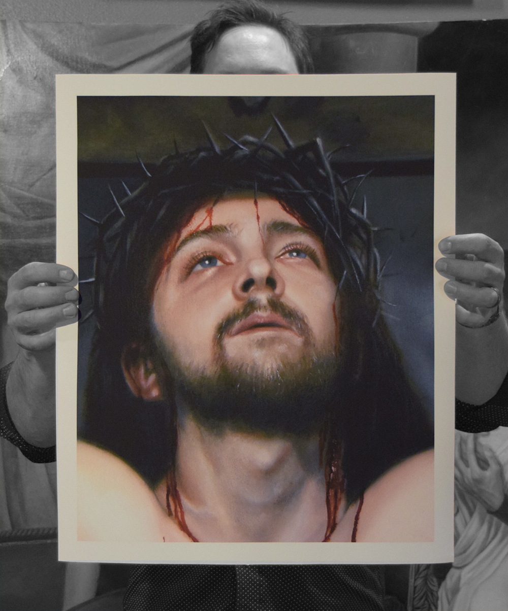 "Face of Christ Limited Edition of 100 Signed Giclée Print with paperwork Somerset Velvet Paper 16 x 20""  $165"