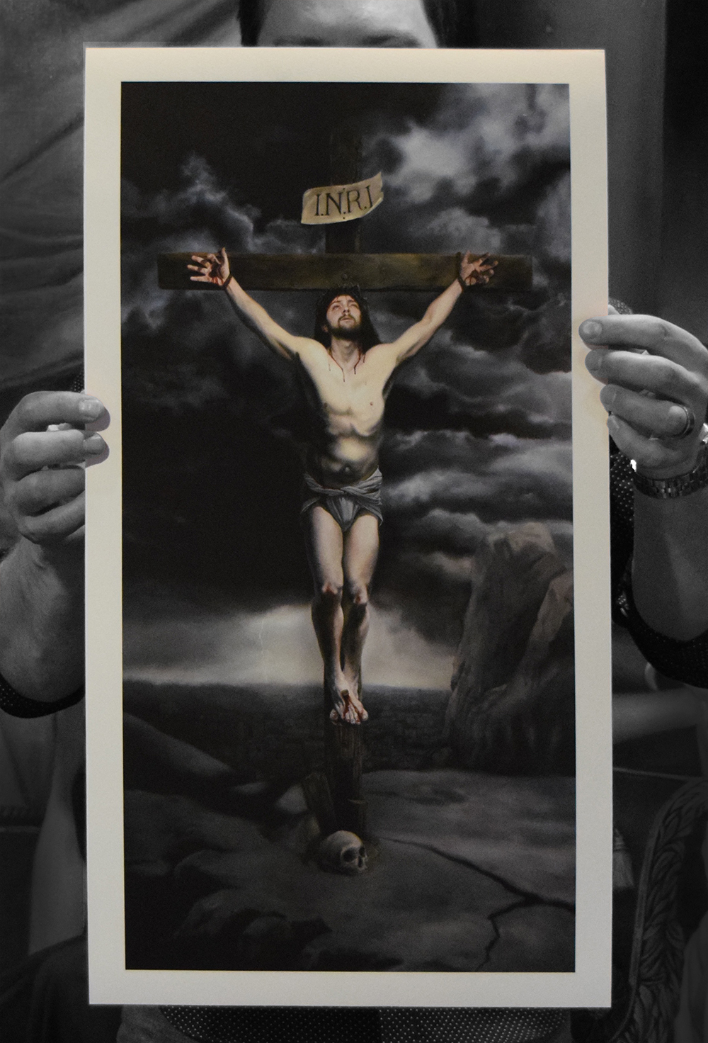 "The Crucifixion Limited Edition of 100 Signed Giclée Print with paperwork Somerset Velvet Paper 12 x 24""  $165"