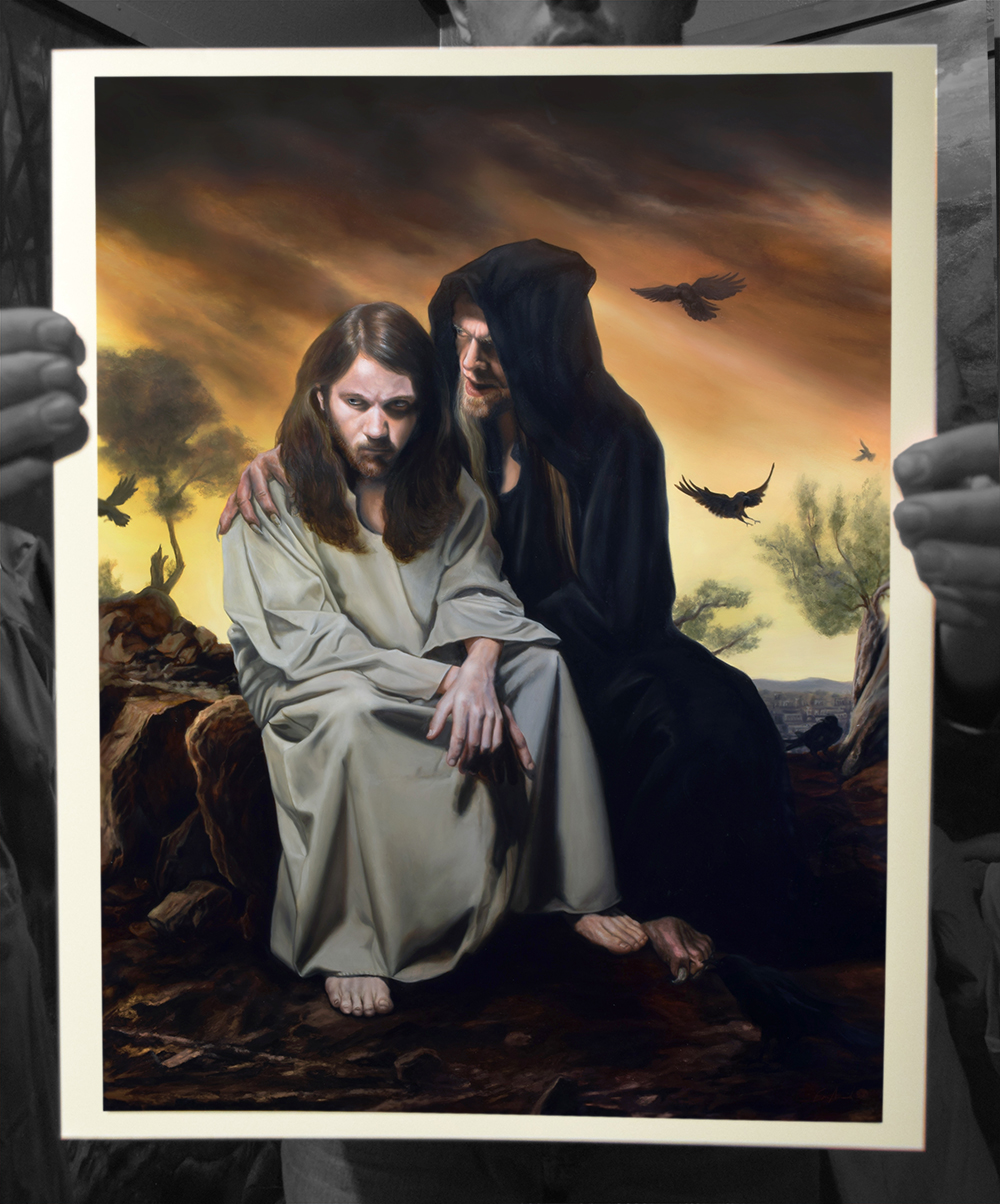 "The Temptation of Christ Limited Edition of 100 Signed Giclée Print with paperwork Somerset Velvet Paper 16 x 20""  $165"