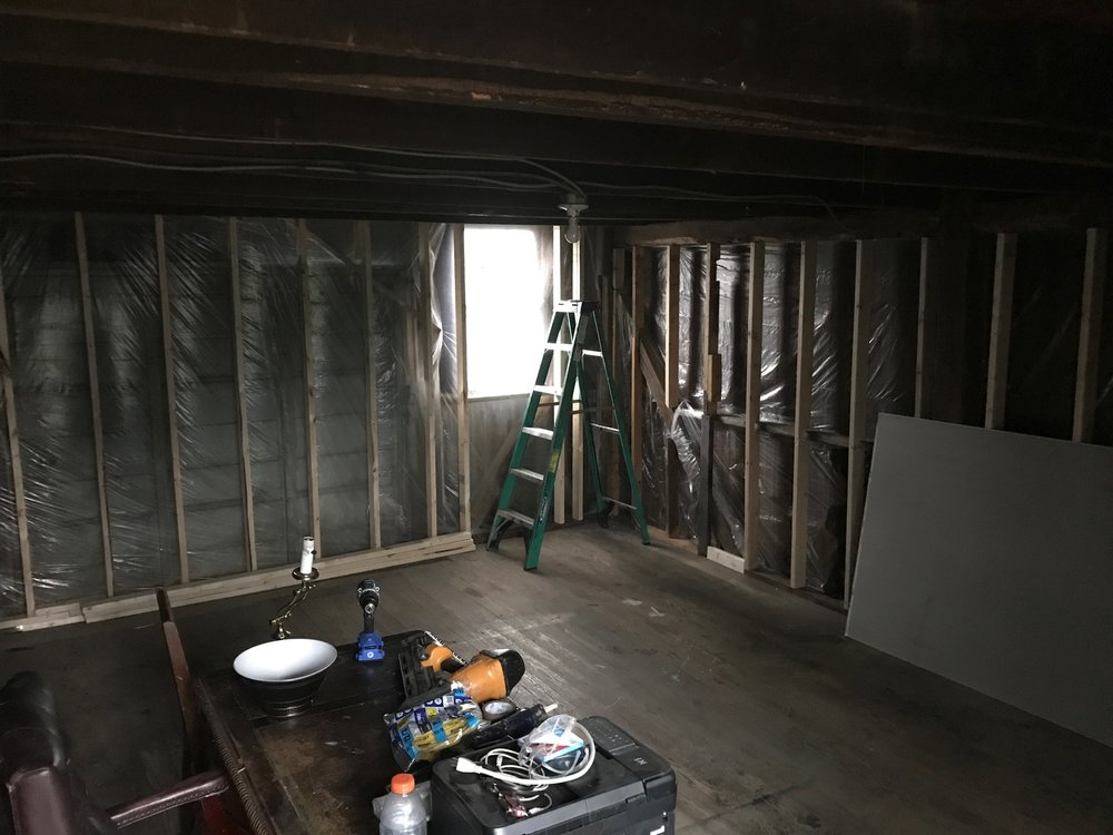 Upper half of the studio as of September 6, 2017
