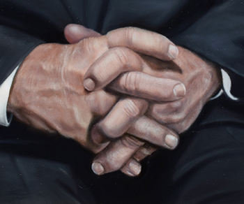 Close up of the hands