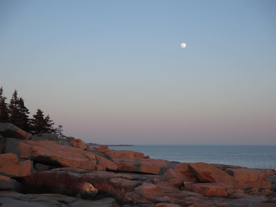 Schoodic Point Moonrise