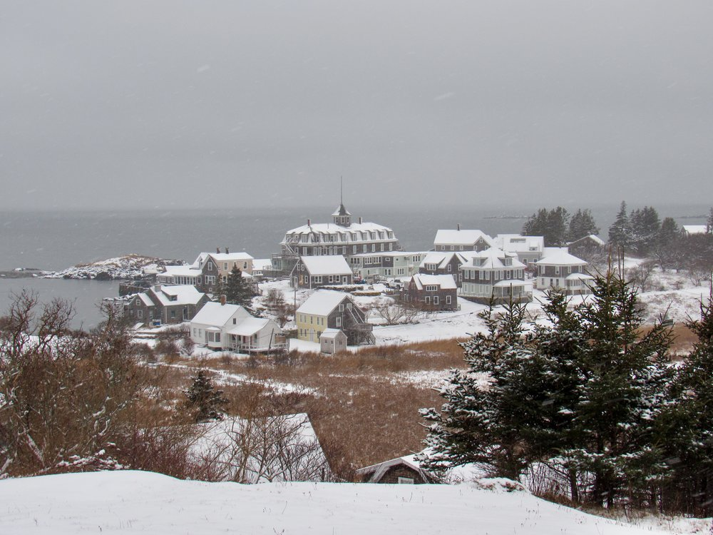 Island in Winter, Monhegan, ME