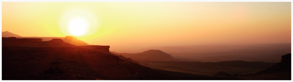 The sun sets over the Fayum Depression, Egypt. K.L. Allen (c) 2010
