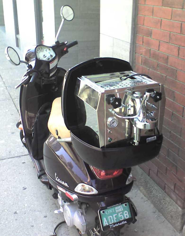 ECM Giotto on Vespa