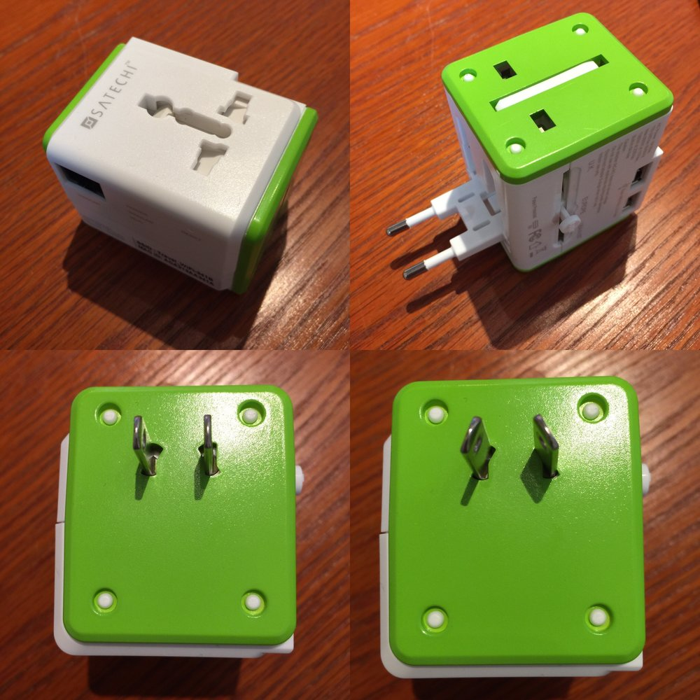 Satechi Smart Travel Router/Travel Adapter plug configurations