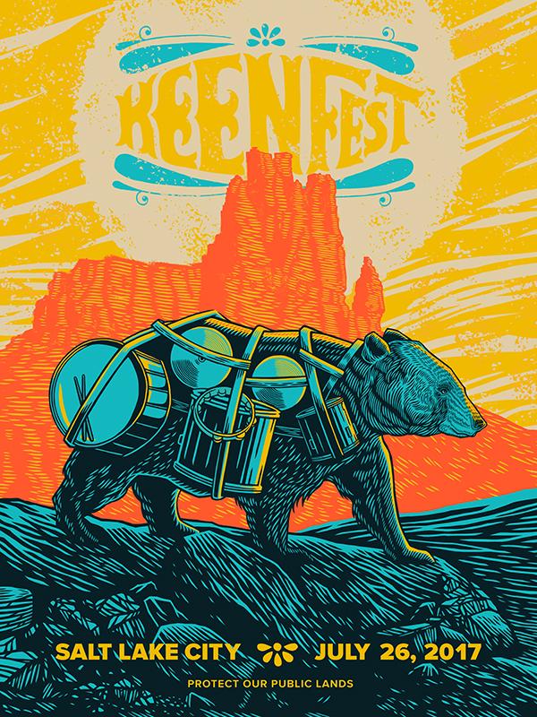 Keen Fest Bear Poster
