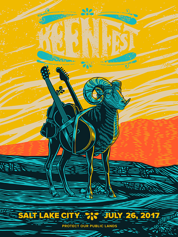 Keen Fest Big Horn Sheep Poster
