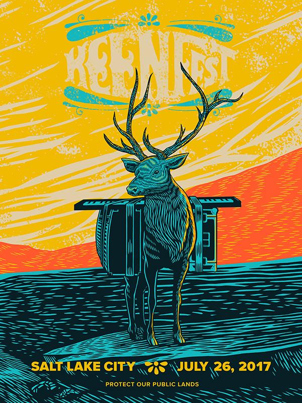 Keen Fest Elk Poster