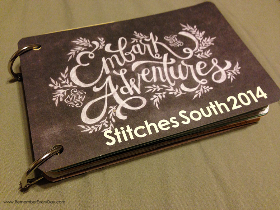 Cover of my Stitches South mini made from a Project Life mini kit.